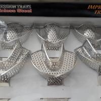 Dental sendok cetak Stainless Steel set merk Compact