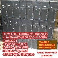 PC CPU Komputer Server Built Up Intel Xeon Ram 32Gb HD 1TB