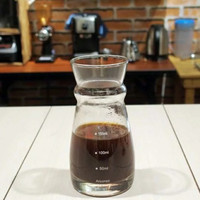 Coffee Serving Glass Arcoroc 290mL with Measurements