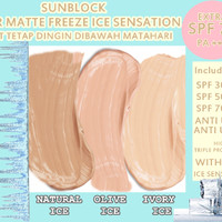 SUNBLOCK SPF 70 SUPER MATTE FREEZE ICE SENSATION CREAM ISI POT 30GR