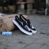 Sepatu Vans Slip-On Band Collabs Black White Murah Premium Original
