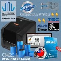 BARCODE LABEL PRINTER WINCODE C342C SEKELAS TSC 244-542- ARGOX CP-2140