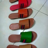 Terbaru sandal teplek kulit asli garut
