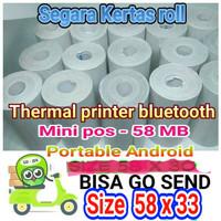 kertas kasir thermal size 58 x 35 printer bluetooth android