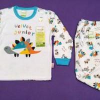 Pakaian Setelan Baju Bayi Velvet Junior Lengan Panjang Limited