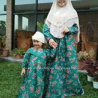 PROMO Dress Gamis Couple Ijo Botol Mirna Katun Jepang Termurah By SFH