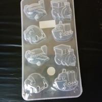 Cetakan coklat transportasi plastik