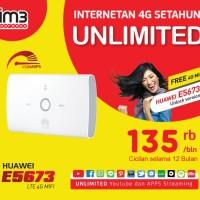 Huawei MIFI E5673 UNLOCK 4G Bundling Indosat Internet UNLIMITED 1Tahun