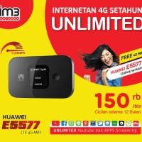HUAWEI E5577 MIFI 4G LTE Bundling Indosat Internet UNLIMITED 1 TAHUN