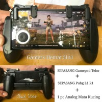 PUBG TELOR KUCING 5in1 Paket Shooter L1R1 Gamepad Analog Joystick Hp