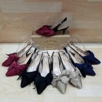 Jual high heels 6cm lucu pita sepatu pesta import impor branded premium Murah