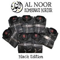 AL NOOR BORDIR HITAM (Gamis Alnoor Premium Kombinasi Bordir Murah)