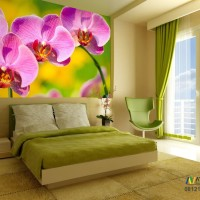 Wallpaper Dinding Custom Bunga Murah 3d- TERMURAH DAN HIGH QUALITY
