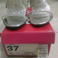 High heel sendal/ sandal pesta Fladeo - silver - no. 37