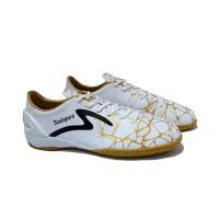 Sepatu Futsal Specs Accelerator Spyder White Gold Realspurs Original