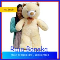 Boneka Beruang Teddy Bear Jumbo 90cm Cream