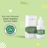 green angelica hair removal perontok bulu permanen