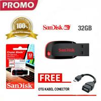 Flashdisk 32 Flasdisk FD sandisk 32gb + kabel otg untuk hp