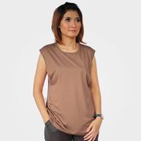 Just Mom baju menyusui Inner Viola - Dark Brown VL120