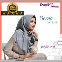 Jilbab Hijab Instan Untuk Wajah Bulat Modis Vierna Grey Langsung Pakai
