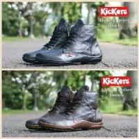 Boot kickers ziper kulit sepatu pria wanita Paling Laris