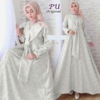4999 broken white dress hanbok korea gamis putih size L XL XXL cantik