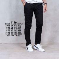 Celana chino hitam / celana panjang katun hitam / celana pria