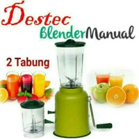 Destec Blender Tangan Manual Putar 2 tabung 2tabung