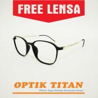 Harga frame kacamata minus baca pria wanita vintage 7046 gold | Pembandingharga.com
