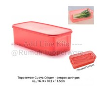 Tupperware Modular Guava Crisper with Strainer (saringan)