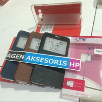 FLIP COVER SAMSUNG ON 7 ON7 LEATHER CASE / DOMPET HP UME CLASSIC ORI