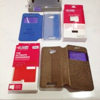 FLIP COVER UME CLASSIC ANDROMAX A SMARTFREN LEATHER CASE / SARUNG HP