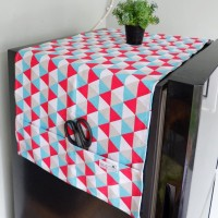 Cover kulkas - Triangle tosca red
