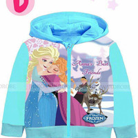 Jaket anak perempuan jw 60 d frozen elsa anna