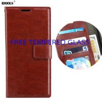 Samsung A8 Plus 2018 Leather Kulit Flip Cover Dompet Wallet Casing HP