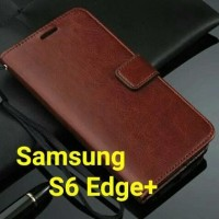 SAMSUNG S6 EDGE PLUS CASE LEATHER FLIP COVER DOMPET WALLET CASING HP