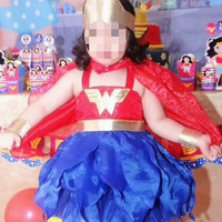 Costume wonder woman / kostum anak / baju pesta ultah