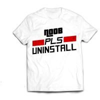Noob Pls Uninstall Tshirt IndoDota