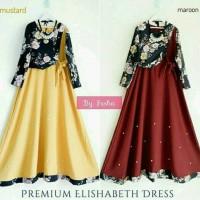 Jual new elisabet dress/maxi/dress muslim/dress pesta/gamis/abaya/ murah Murah
