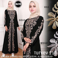 Jual Abaya turki hitam bordir gaun pesta murah Murah
