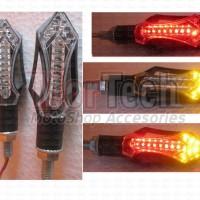 Lampu Sen Sein Led Kedip + Stoplamp 2 in 1 for New Vixion - Aerox 155