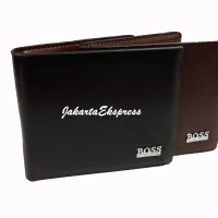 DOMPET KULIT PRIA IMPORT PREMIUM QUALITY HUGO BOSS HB01- Brown