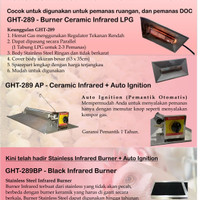 Pemanas Ayam Black Infrared LPG Pemantik Otomatis