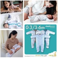 Sleepsuit dreamwear velvet junior pakaian bayi motif boy