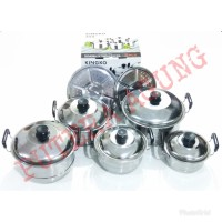 PANCI 1 SET 5 Pcs KINGKO + Steamer Stainless steel Pengukus Kue