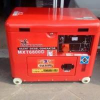 Genset silent 5000 watt 1 phase diesel maxtron GRATIS O Limited