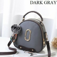 Tas Handbag Import Remaja Dan Dewasa Wanita Modern Masa Kini Dark Gray