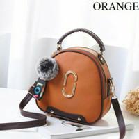 Tas Handbag Import Remaja Dan Dewasa Wanita Modern Masa Kini Orange