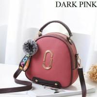 Tas Handbag Import Remaja Dan Dewasa Wanita Modern Masa Kini Dark Pink