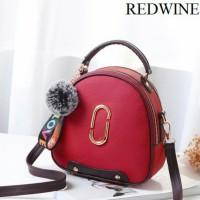 Tas Handbag Import Remaja Dan Dewasa Wanita Modern Masa Kini Redwine